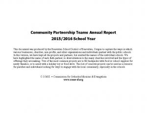 School-Church Partnerships