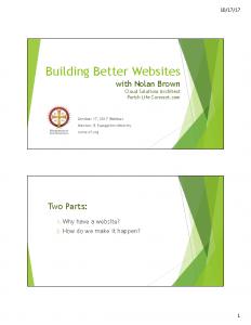 Building Better Websites handout