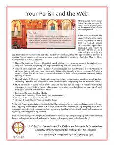 Your Parish & the Web