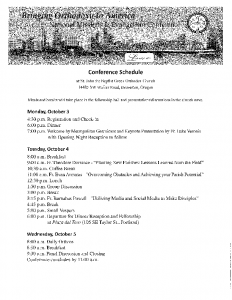 Conference Schedule + Details