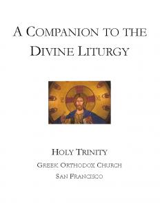 A Companion to the Divine Liturgy