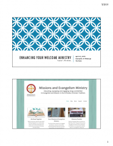 Welcome Ministry Apr 2018 slides